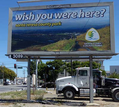 Santa Teresa Park billboard at 10th St. and Hedding