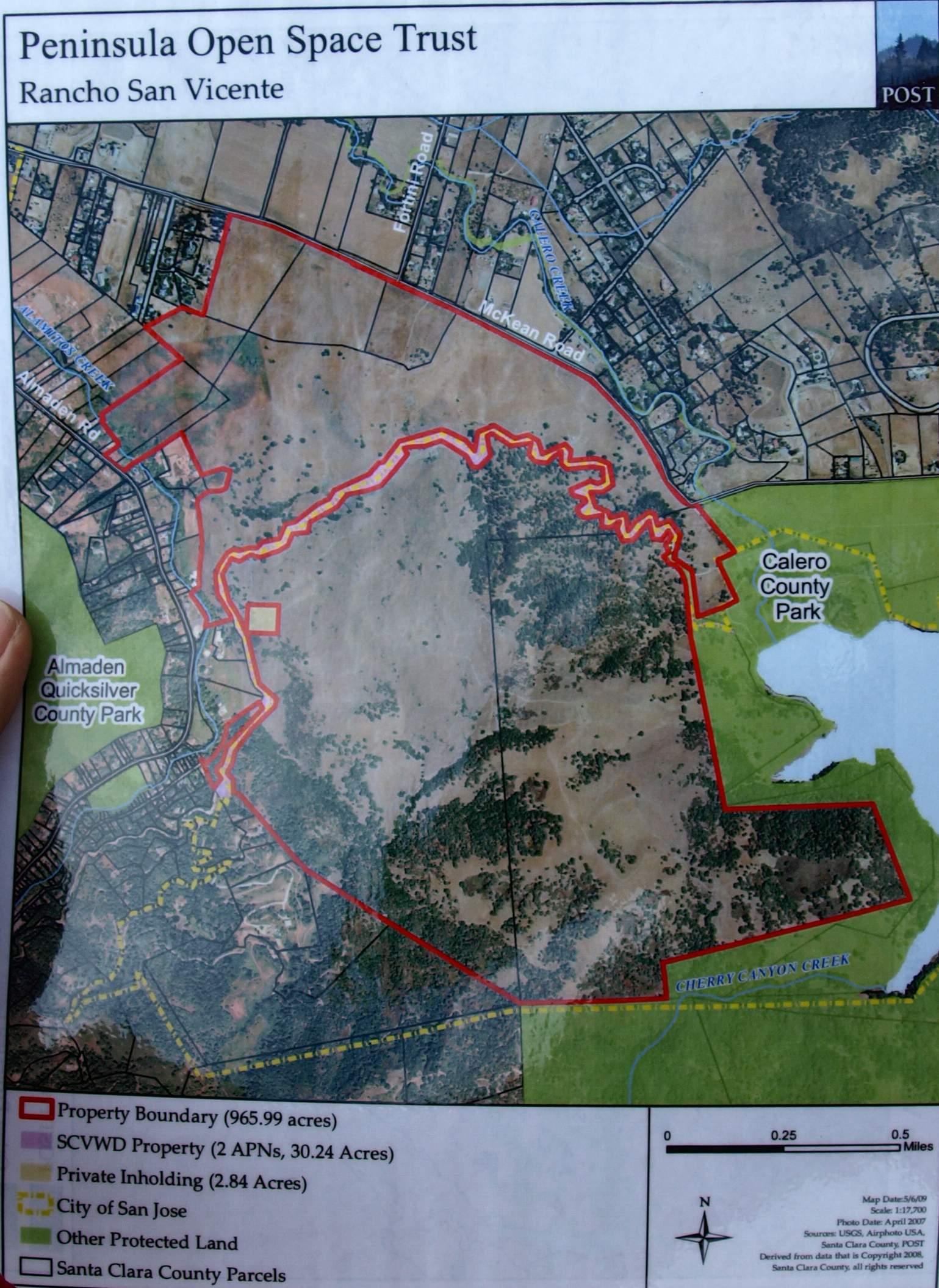 Rancho San Vicente Hike - Map of usa showing san jose